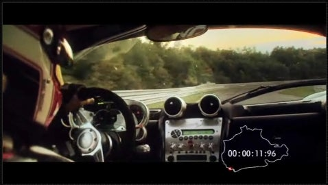 Pagani Zonda F on the 'Ring, Cinematic Edition