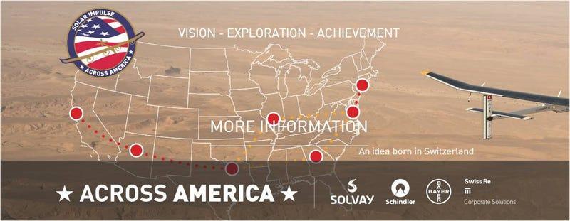 El avión Solar Impulse viajará de costa a costa en EE.UU. antes de dar la vuelta al mundo