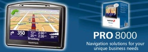 Tomtom's Pro 4000 and 8000 GPS Units Come with Support Package