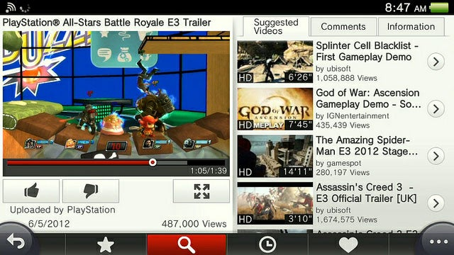 YouTube Comes to Vita and Brings Sexy With It