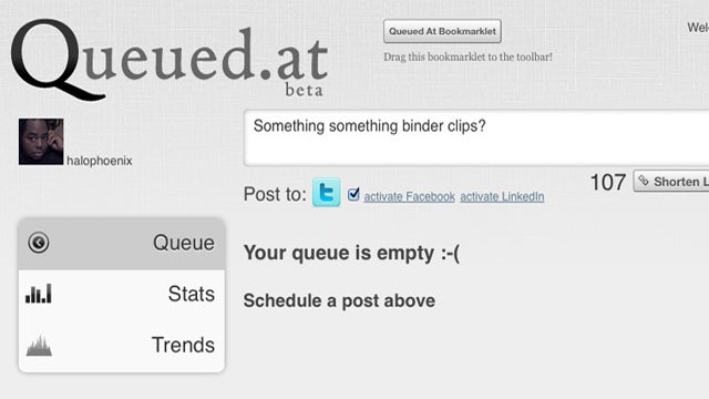 Queued.at Lets You Schedule Updates to Twitter, Facebook, and LinkedIn