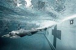 Streamlined Speedo Swim Suit Is Too Slippery When Wet
