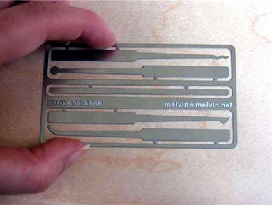 Lock Pick Business Card: Sweet Form, Solid Function