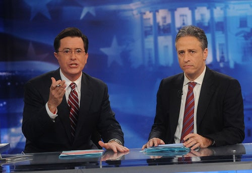 Jon Stewart, Stephen Colbert Now Contractually Obligated to Make Fun of 2012 Presidential Elections