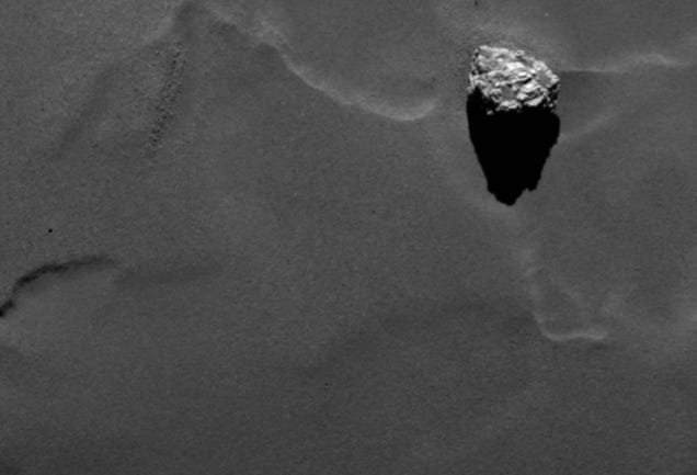 Check Out This Spectacular Hi-Res Shot Of A Boulder Resting On A Comet