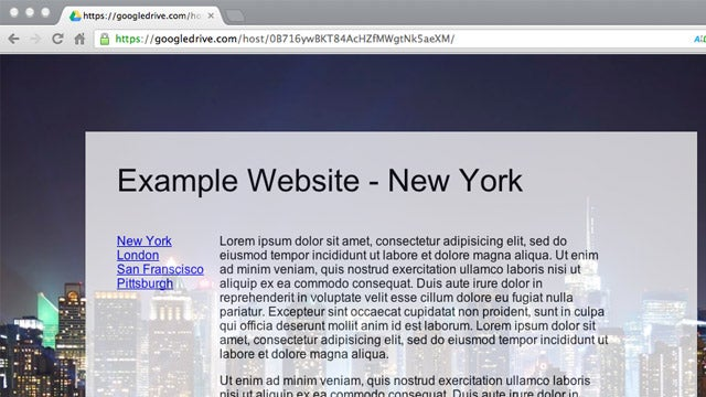 Host Web Pages on Google Drive