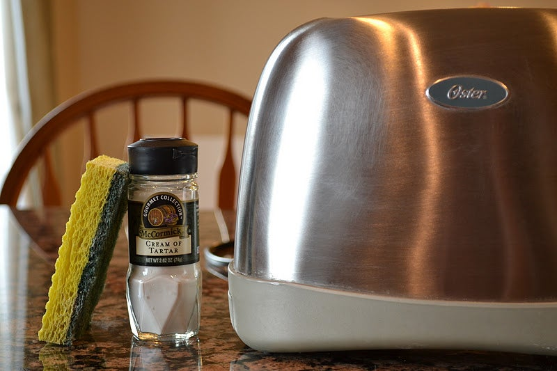Clean Metal Appliances with Cream of Tartar