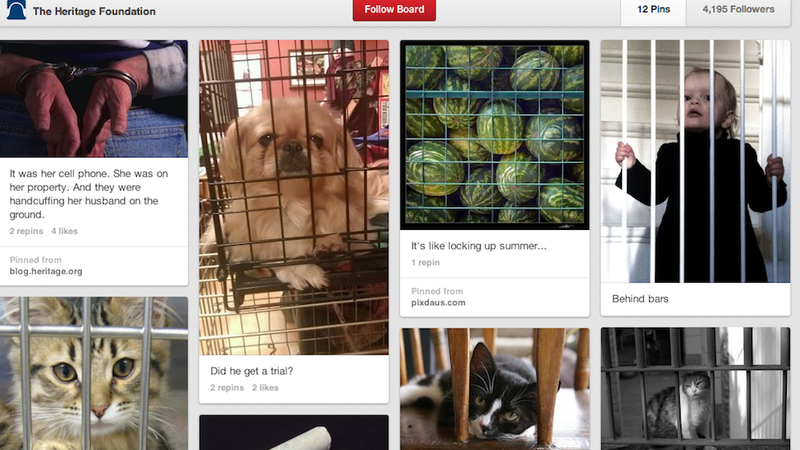 The Heritage Foundation's Pinterest Account Is Definitely Drunk