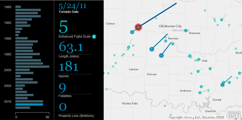 Esri's Interactive Tornado Map Is Awesome