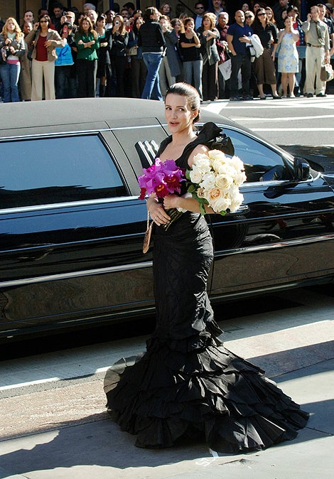 Trick Or Treat! Charlotte York-Goldenbatt's Dress Is Morticia-Chic