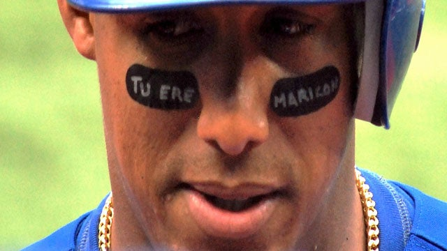 "Yunel Escobar's Eyeblack Reads ""You Are A Faggot"" In Spanish [UPDATE]"