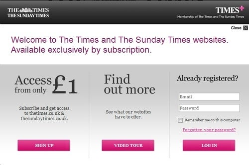Times UK Paywall Confirms: Readers Hate Paying For Things