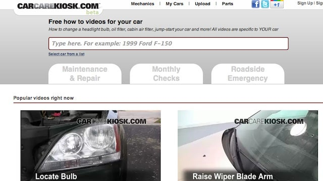 CarCareKiosk Is a Video Manual for Your Specific Car