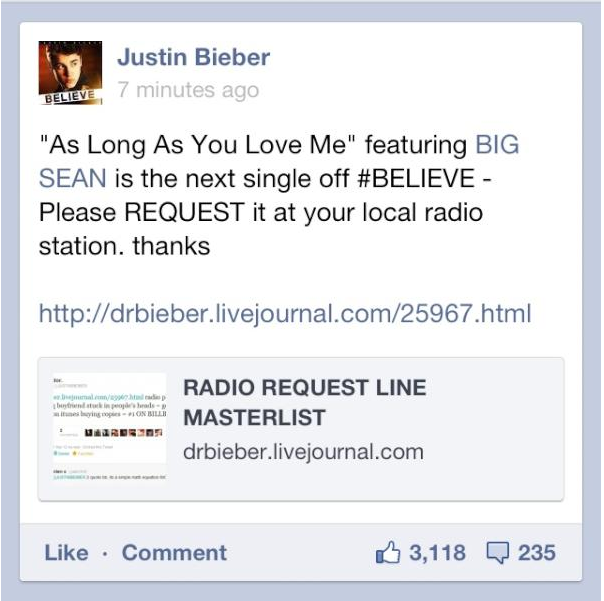 How Beliebers Are Ensuring You Will Only Hear Justin Bieber On The Radio This Summer