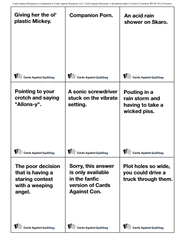 It's just a picture of Candid Print Out Cards Against Humanity