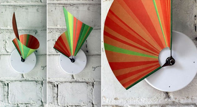 Buy a Colorful Clock That Tells Time in Three Dimensions
