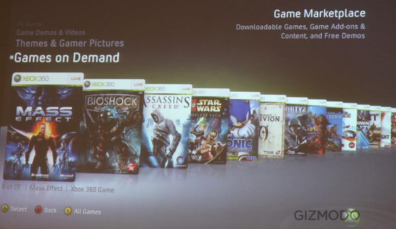 Xbox Live Full Retail Games on Demand: Download Mass Effect, Bioshock and More