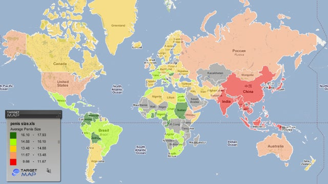 Plan Your Next Vacation Using The World Map Of Penis Sizes