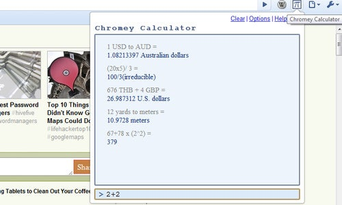 Chromey Calculator Adds Recent Calculator History To Google Chrome