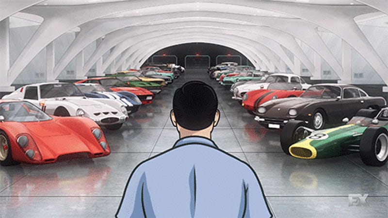 Let's ID All The Great Cars In This Archer Villian's Garage