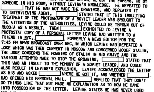 Irving R. Levine, International Man of Mystery