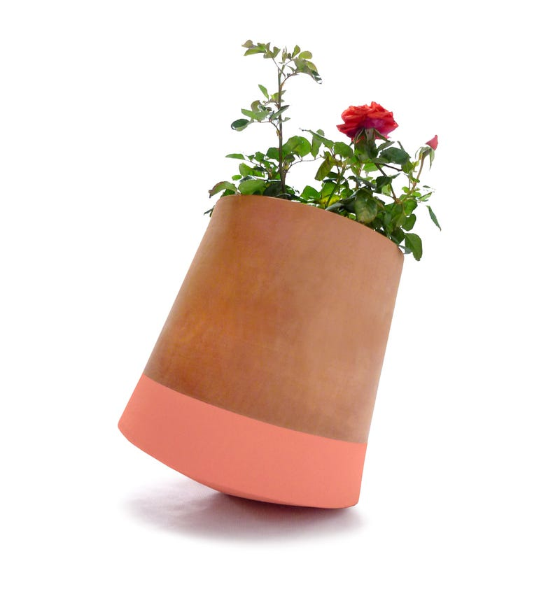 This Topsy Turvy Flower Pot Can Rotate Around to Follow the Sun