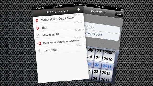 Days Away Puts Tasks and Their Deadlines on Your iPhone (and Nothing Else)
