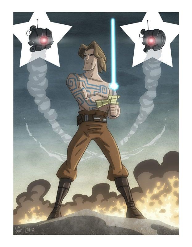 Beefcake superhero tarot card collection gives us the sexy Anakin we deserve