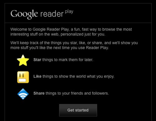 Google Reader Play: Fullscreen Playback of Popular/Recommended Reader Items
