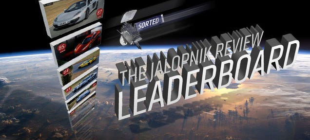 The Jalopnik Review Leaderboard: Sorted By Categories