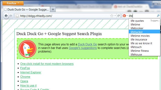 Add Google Suggestions to DuckDuckGo in Your Browser's Search Bar