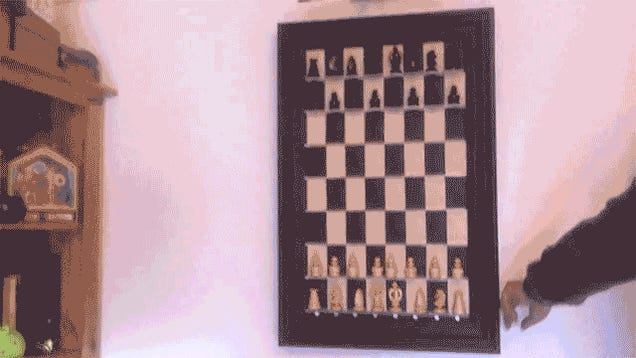 A Wall-Mounted Computer Chess Game Is Playable Art