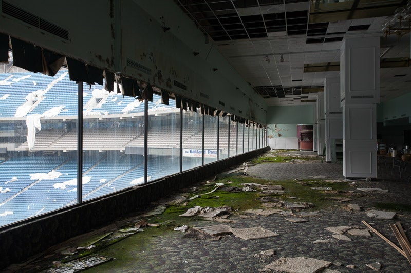 Striking Photos From Inside The Abandoned Silverdome