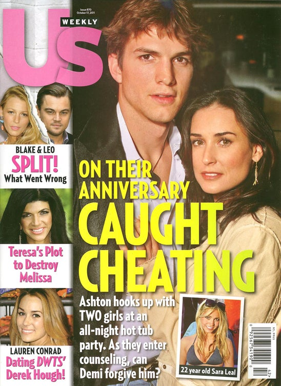 This Week In Tabloids: Ashton Cheated On Demi Because She's Insecure & Old