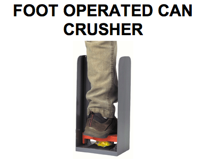 FOOT OPERATED CAN CRUSHER