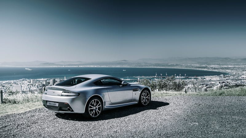The Sea, The Sky, The Aston Martin V8 Vantage