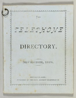 First-Ever Phone Directory and Instruction Manual to Be Auctioned