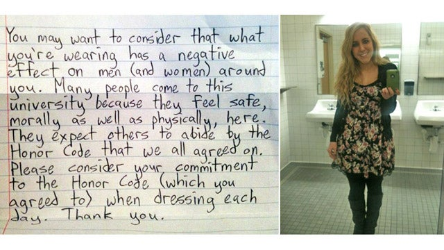 Woman Gets Super Sweet Valentine's Day Note Asking Her Not to Dress Like Such a Whore