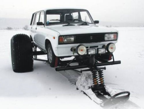Snow Foot Car Proves Russia's Still Got It