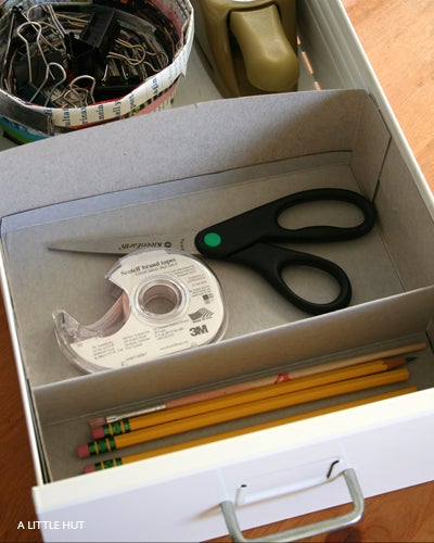 Make a Cheap Drawer Organizer from an Empty Cereal Box