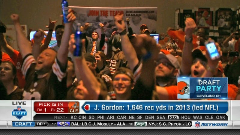 Johnny Manziel Goes To Cleveland; Browns Fans Have Rare Moment Of Joy