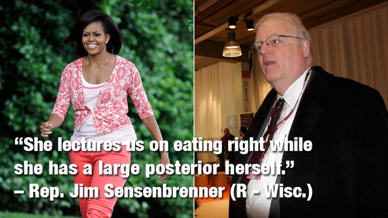 Fat-Assed Lawmaker Overheard Bitching about Michelle Obama's 'Large Posterior'