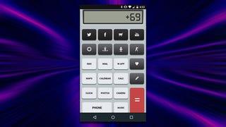 The Retro Calculator Home Screen