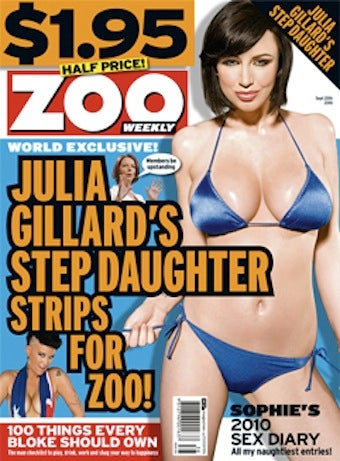 Stepdaughter of Australian Prime Minister Poses for Sexy Magazine Shoot