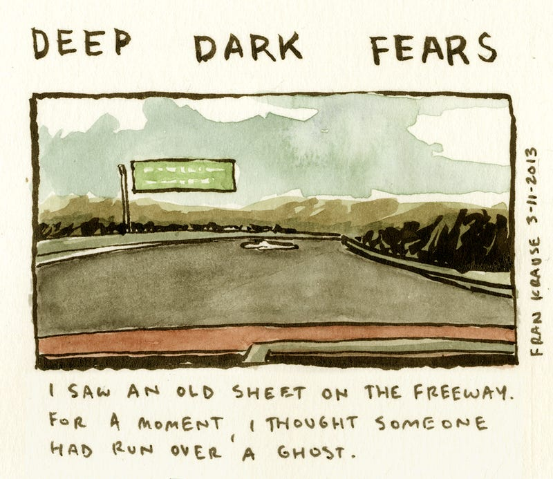 Everyone has bizarre secret fears. Here they are in comic form.