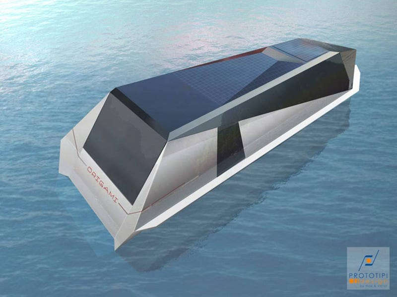 Origami Yacht Folds Onto Itself for Optimum Speed