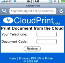 CloudPrint Stores and Prints Documents at Home from Any Browser