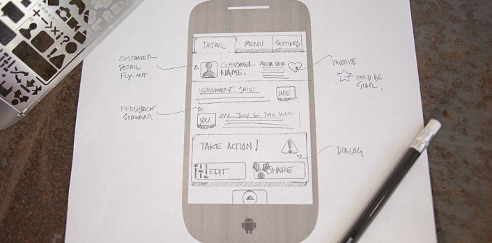 Create Android Apps, Cause Geeky Mischief with This Slick Stencil Kit