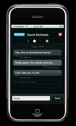 FlickIM: Another AIM Client For the iPhone