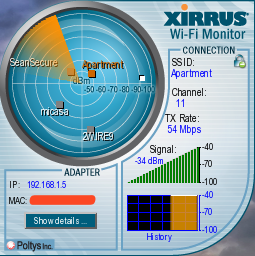 Xirrus Wi-Fi Monitor Detects Wireless Networks